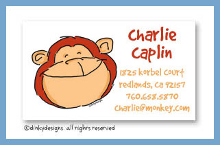 Monkey business calling cards, personalized