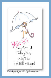 Umbrella bride calling cards, personalized