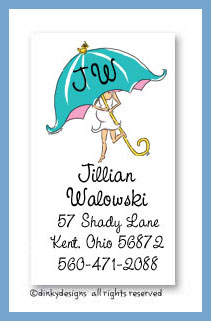 Mommy shower calling cards, personalized