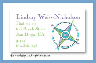Compass calling cards, personalized
