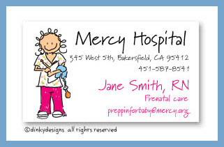 Nurse jane calling cards, personalized