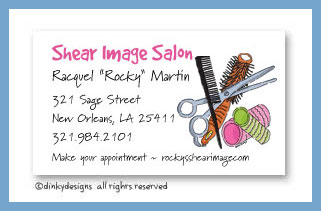 Stylist stuff calling cards, personalized