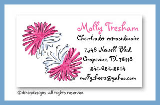 Pom poms calling cards, personalized