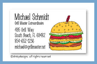 Double double calling cards, personalized