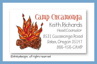 Campfire calling cards, personalized