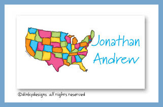 USA calling cards, personalized