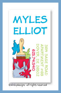 Bucket o' paint calling cards, personalized