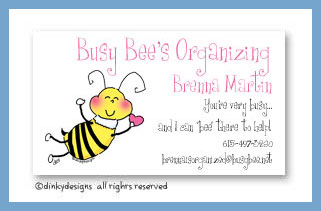 Bee-mine calling cards, personalized