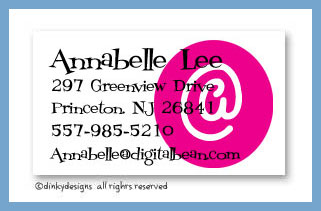 At peace calling cards, personalized