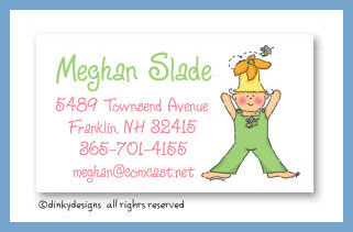 Daphne Bloom calling cards, personalized