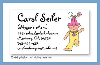 Tilly Bloom calling cards, personalized