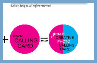 Custom calling cards photo, personalized circle image
