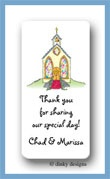 Here's the church calling card stickers personalized