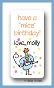 Eek! A party mouse calling card stickers personalized