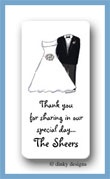 Bridal party calling card stickers personalized