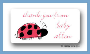 Little lady calling card stickers personalized