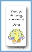 Tommy the turtle calling card stickers personalized