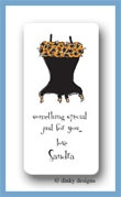 Corset: black leopard calling card stickers personalized