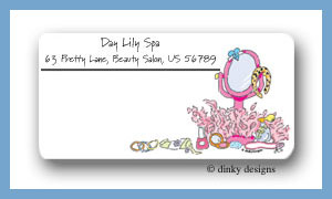 Girly things mirror calling card stickers personalized