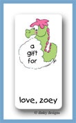 Charlie the seahorse calling card stickers personalized