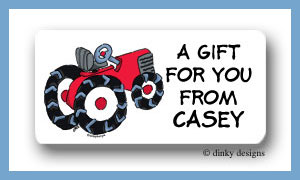 Barnyard tractor calling card stickers personalized