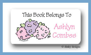 Hydrangea calling card stickers personalized