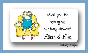 Great expectations calling card stickers personalized