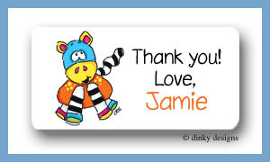 Zoe zoodle calling card stickers personalized