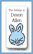 Bunny calling card stickers personalized