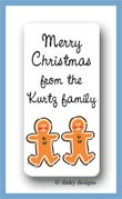 Gingerbread calling cards stickers personalized