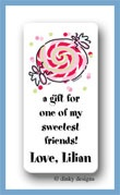 Peppermint calling card stickers personalized