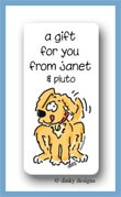 Pluto the puppy calling card stickers personalized