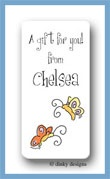 Teenie butterflies calling card stickers personalized