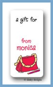 Cafe purse calling card stickers personalized