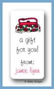 Roses are red pocketbook calling card stickers personalized