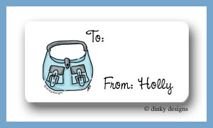 Robin's egg handbag calling card stickers personalized
