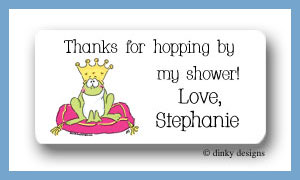 Frog prince calling card stickers personalized