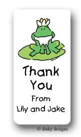 Garret the frog calling card stickers personalized