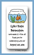 Finnian the goldfish calling card stickers personalized
