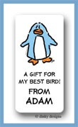Dotter the penguin calling card stickers personalized