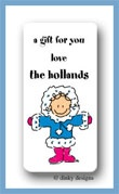 Eskimo jane calling card stickers personalized