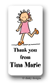 Call me Jane calling card stickers, personalized