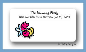 Lucy the lightning bug calling card stickers personalized