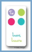 Pixie dots calling card stickers personalized