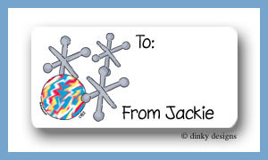 Jacks calling card stickers personalized
