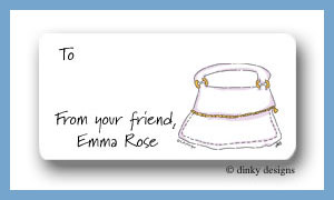Pina colada purse calling card stickers personalized