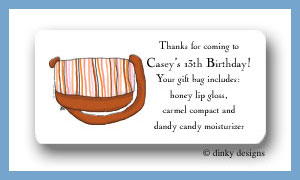 Carmel stripes calling card stickers personalized