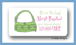 Key lime karry all calling card stickers personalized