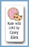 Cookies, sprinkle & chip calling card stickers personalized