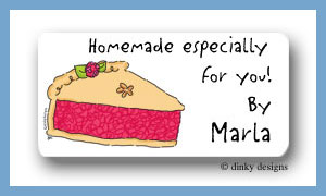 Berry pie calling card stickers personalized